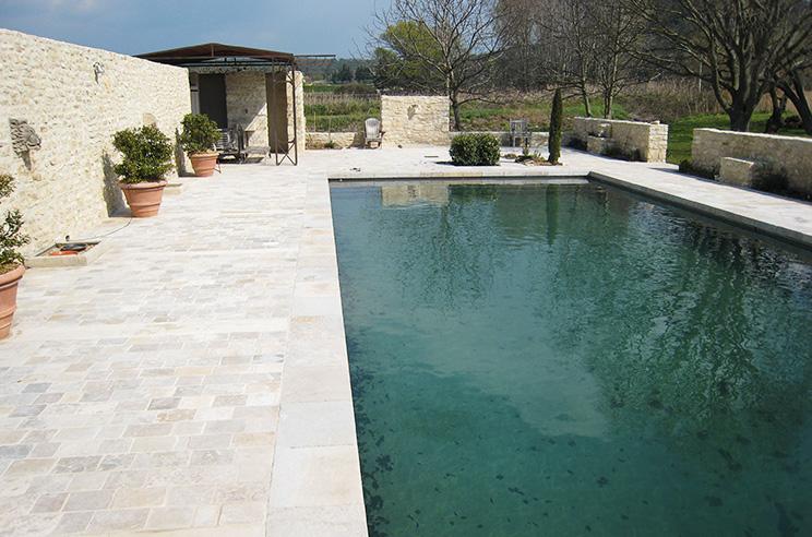 Batik construction neuve r novation luberon alpilles piscine de 15m - Enduit silico marbreux ...